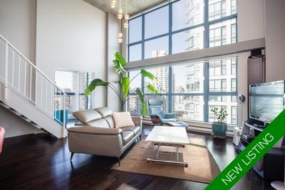 Yaletown Loft for sale: The Space 1 bedroom  Stainless Steel Appliances, European Appliance, Glass Shower, Hardwood Floors 863 sq.ft. (Listed 2018-10-15)