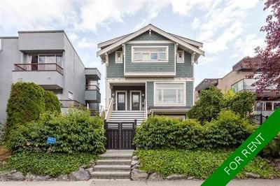 Kitsilano Townhouse for rent:  2 bedroom  Stainless Steel Appliances, Tile Backsplash, Glass Shower, Hardwood Floors 1,080 sq.ft. (Listed 2020-01-01)