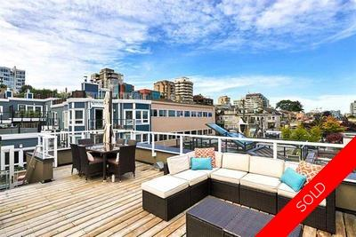 Fairview Slopes Townhouse for sale: False Creek Terrace 2 bedroom 1,291 sq.ft. (Listed 2016-08-09)